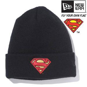 スーパーマン×ニューエラ ニットキャップ ベーシックカフニット スーパーマンロゴ ブラック SUPERMAN×New Era Knit Cap Bacic Cuff Knit Superman Logo Black cio