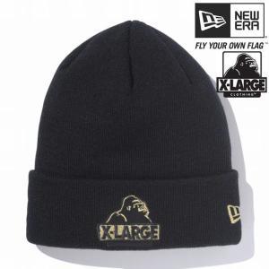 エクストララージ(R)×ニューエラ ニットキャップ カフニット エクストララージロゴ ブラック XLARGE(R)×New Era Knit Cap Cuff Knit XLARGE(R) LOGO Black|cio