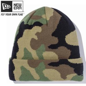 ニューエラ ニットキャップ ベーシックカフニット ウッドランドカモ ブラック New Era Knit Cap Basic Cuff Knit Woodland Camo Black cio