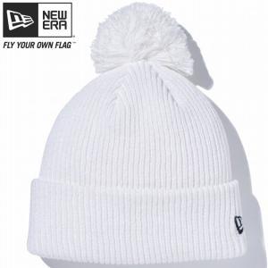 ニューエラ ニットキャップ ベーシックポンポンニット ホワイト ブラック New Era Knit Cap Bacic Pom-Pon Knit White Black cio