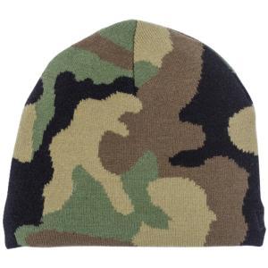 ニューエラ キッズニットキャップ ベーシックビーニー ウッドランドカモ ブラック New Era Kids Knit Cap Basic Beanie Woodland Camo Black|cio