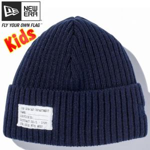 ニューエラ キッズニットキャップ ミリタリーニット パッチ ネイビー ミッドナイトネイビー New Era Knit Cap Military Knit Patch Navy Midnight Navy|cio
