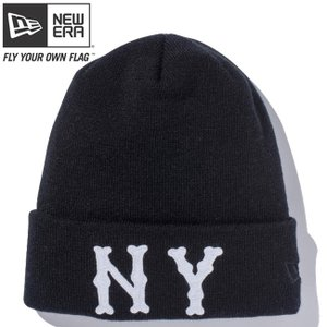 ニューエラ ニットキャップ ベーシックカフニット チームロゴ ニューヨーク ハイランダース ブラック ホワイト New Era Knit Cap Basic Cuff Knit New York|cio