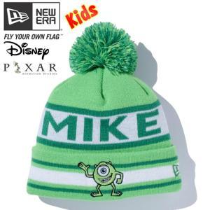 モンスターズインク×ニューエラ キッズニットキャップ ポンポン マイク 蛍光グリーン マルチカラー Monsters Inc×New Era Kids Knit Cap Pom-Pon Knit Mike cio