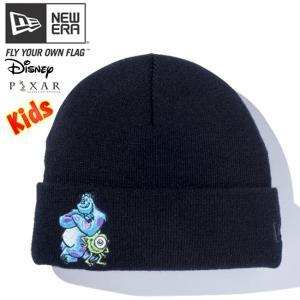 モンスターズインク×ニューエラ キッズニットキャップ ベーシックカフニット マイク サリー ブラック マルチカラー Monsters Inc×New Era Kids Knit Cap Basic cio
