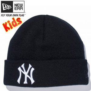 ニューエラ キッズニットキャップ ベーシックカフニット チームロゴ ニューヨーク ヤンキース ブラック New Era Kids Knit Cap Basic Cuff Knit New York|cio
