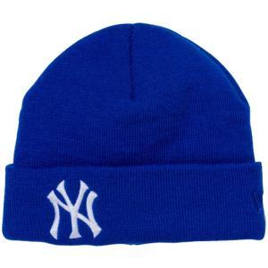 ニューエラ キッズニットキャップ ベーシックカフニット チームロゴ ニューヨーク ヤンキース ロイヤル New Era Kids Knit Cap Basic Cuff Knit New York|cio