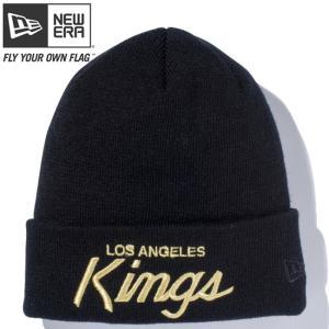 ニューエラ ニットキャップ ベーシックカフニット チームロゴ ロサンゼルス キングス ブラック メタリックゴールド New Era Basic Cuff Knit Los Angeles Kings cio