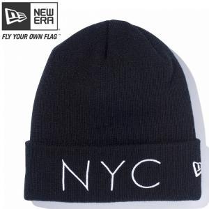 ニューエラ ニットキャップ ベーシックカフニット ニューヨークシティ ブラック スノーホワイト New Era Knit Cap Basic Cuff New York City Black Snow White cio