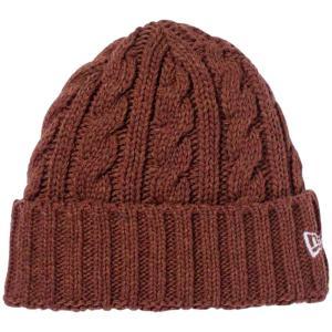 ニューエラ ニットキャップ カフニット ローゲージ ウールブレンド ブラウン スノー New Era Knit Cap Cuff Knit Low Gauge Wool Blend Brown Snow|cio