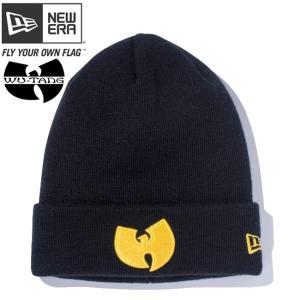 ニューエラ ニットキャップ ベーシックカフニット ウータンクラン ウータンロゴ ブラック マニラ New Era Knit Cap Basic Cuff Knit Wu-Tang Clan Logo Black|cio