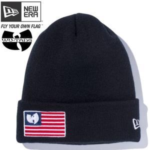 ニューエラ ニットキャップ ベーシックカフニット ウータンクラン USフラッグ ブラック ホワイト ライトネイビー New Era Knit Cap Basic Cuff Knit Wu-Tang|cio