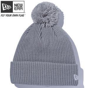 ニューエラ ニットキャップ ポンポンニット ライトグレー スノーホワイト New Era Knit Cap Pom-Pon Knit Light Gray Snow White cio