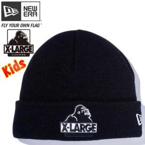 エクストララージ(R)×ニューエラ キッズニットキャップ カフニット エクストララージロゴ ブラック XLARGE(R)×New Era Kids Knit Cap Cuff Knit Logo Black|cio