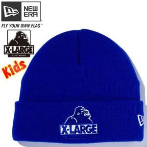 エクストララージ(R)×ニューエラ キッズニットキャップ カフニット エクストララージロゴ ロイヤル XLARGE(R)×New Era Kids Knit Cap Cuff Knit XLARGE Logo|cio