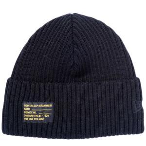 ニューエラ ニットキャップ ミリタリーニット ブラックパッチ ブラック ブラック New Era Knit Cap Military Knit Black Patch Black Black|cio