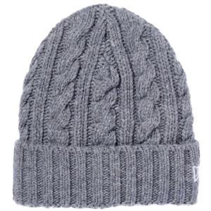 ニューエラ ローゲージ カフニット ウールブレンド グレー スノーホワイト New Era Low Gauge Cuff Knit Wool Blend Gray Snow White|cio