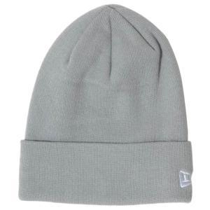 ニューエラ ニットキャップ ベーシックカフニット コットンブレンド グレー スノーホワイト New Era Knit Cap Basic Cuff Knit Cotton Blend Gray Snow White cio