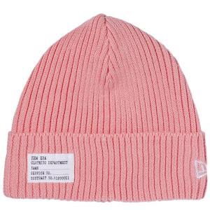 クールマックス(R)×ニューエラ ニットキャップ ミリタリーニット パッチ チェリーピンク ホワイト Cool Max (R)×New Era Knit Cap Military Knit Patch Pink cio