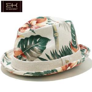 イーケーバイニューエラ ハット ザ フェドーラ ヴィンテージアロハ リネンバンド ホワイト EK by New Era Hat The Fedora Vintage Aloha Linen Band White|cio