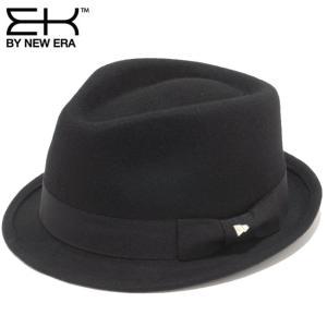 イーケーバイニューエラ ハット ザ トリルビー ウール グログランバンド ブラック EK by New Era Hat The Trilby Wool Grosgrain Band Black|cio