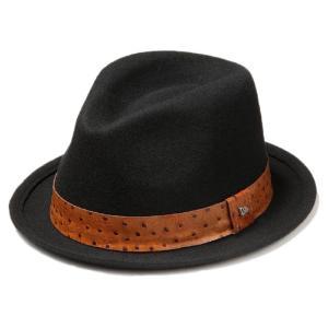 イーケーバイニューエラ ハット シリーズ81 ザ フェドーラ ウールフェルト リアルレザーバンド ブラック EK by New Era Hat Series 81 The Fedora Wool Felt|cio