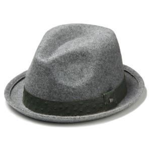 イーケーバイニューエラ ハット シリーズ81 ザ フェドーラ ウール リアルレザーバンド グレー EK by New Era Hat Series 81 The Fedora Wool Real Leather Band|cio