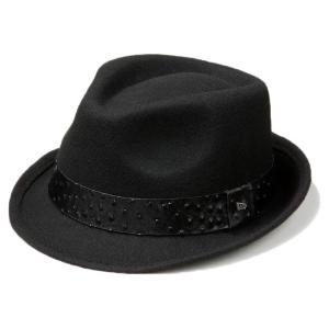イーケーバイニューエラ ハット シリーズ81 ザ トリルビー ウールフェルト リアルレザーバンド ブラック EK by New Era Hat Series 81 The Trilby Wool Felt|cio