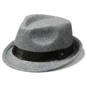 イーケーバイニューエラ ハット シリーズ81 ザ トリルビー ウール リアルレザーバンド グレー EK by New Era Hat Series 81 The Trilby Wool Real Leather Band|cio