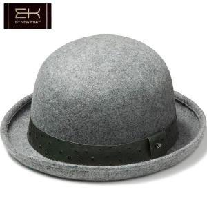 イーケーバイニューエラ ザ ボーラーハット シリーズ81 ウール リアルレザーバンド グレー EK by New Era Hat Series 81 The Bowler Wool Real Leather Band|cio