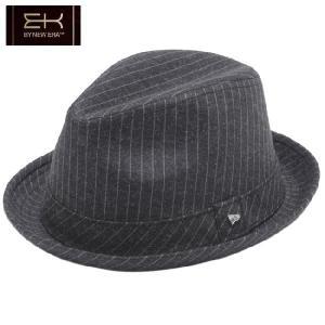 イーケーバイニューエラ ハット ザ フェドーラ ピンストライプ ブラック グレー シルバー EK by New Era Hat The Fedora Pinstripe Black Glay Silver|cio