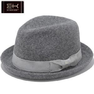 イーケーバイニューエラ ハット ザ ビッドウェル ウールブレンド グログランバンド グレー シルバー EK by New Era Hat The Bidwell Wool Grosgrain Band Gray|cio