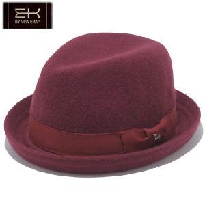 イーケーバイニューエラ ハット ザ ビッドウェル ウールブレンド グログランバンド レッド シルバー EK by New Era Hat The Bidwell Wool Grosgrain Band Red|cio