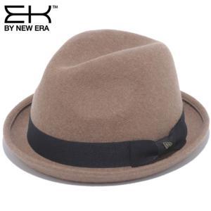 イーケーバイニューエラ ハット ザ フェドーラ ベージュ ブラックグログランバンド ゴールド EK by New Era Hat The Fedora Beige Black Grosgrain Band Gold|cio