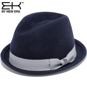イーケーバイニューエラ ハット ザ フェドーラ ウールフェルト グログランバンド ネイビー EK By New Era Hat The Fedora Wool Felt Grosgrain Band Navy|cio