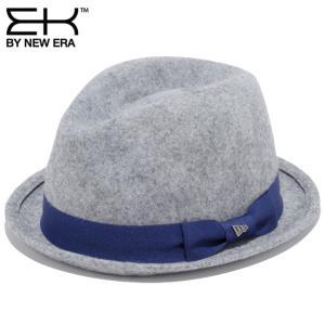 イーケーバイニューエラ ハット ザ フェドーラ ウールフェルト グログランバンド グレー EK By New Era Hat The Fedora Wool Felt Grosgrain Band Gray|cio