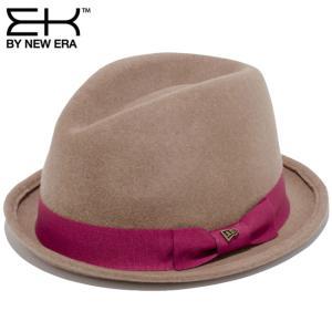 イーケーバイニューエラ ハット ザ フェドーラ ウールフェルト グログランバンド キャメル EK By New Era Hat The Fedora Wool Felt Grosgrain Band Camel|cio