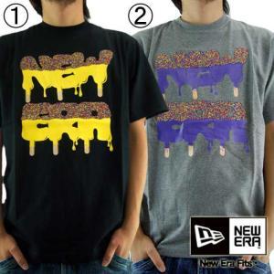 【SALE】ニューエラ S/S Tシャツ ナイス クリーム 1.ブラック 2.グレー New Era S/S TEE NICE CREAM|cio