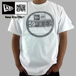 【SALE】ニューエラ S/S Tシャツ ラインステッカー ホワイト/ブラック New Era SS TEE RHINE STICKER White/Black cio