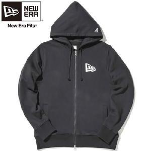ニューエラ ジップアップフーディー フラッグロゴ ブラック ホワイト New Era Zip Up Hoodie Flag Logo Black White|cio