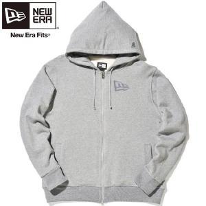 ニューエラ ジップアップフーディー フラッグロゴ ヘザーグレー ダークグレー New Era Zip Up Hoodie Flag Logo Heather Gray(Grey) Dark Gray|cio
