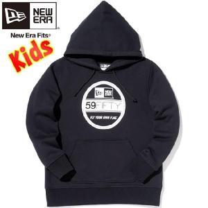 ニューエラ キッズ ベーシックフーディー バイザーステッカー ブラック ホワイト New Era Kids Basic Hoodie Visor Sticker Black White cio