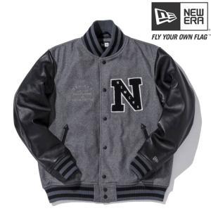ニューエラ スタジアムジャケット エヌパッチ チャコール ブラック ブラック グレー グレー New Era Stadium Jacket N Patch Charcoal Black Black Gray Gray|cio