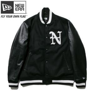 ニューエラ スタジアムジャケット N パッチ ブラック ブラック ホワイト ブラック ホワイト New Era Stadium Jacket N Patch Black Black White Black White|cio