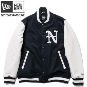 ニューエラ スタジアムジャケット N パッチ ネイビー ホワイト ホワイト ネイビー ネイビー New Era Stadium Jacket N Patch Navy White White Navy Navy cio