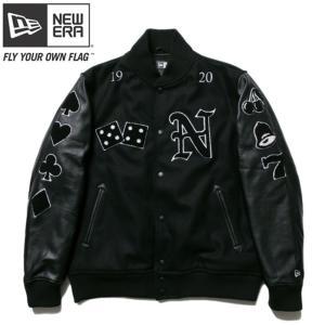 ニューエラ スタジアムジャケット フルパッチ ブラック ブラック ブラック ホワイト ホワイト New Era Stadium Jacket Full Patch Black Black Black White|cio