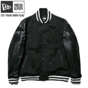 ニューエラ スタジアムジャケット ニューヨークヤンキース MLB フルパッチ ブラック ブラック New Era Stadium Jacket New York Yankees MLB Full Patch Black|cio