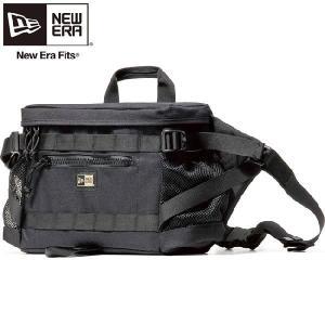 ニューエラ バッグ スクエアウェストバッグ コーデュラ ブラック New Era Bag Square Waist Bag Cordura Black|cio