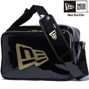 ニューエラ バッグ エナメルバッグ ミディアム ブラック ゴールド New Era Bag Enamel Bag Medium Black Gold cio