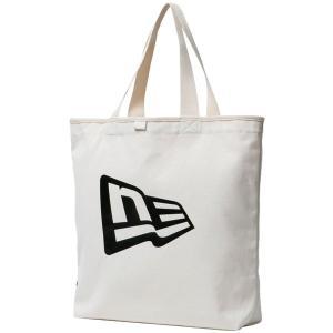 ニューエラ バッグ キャンバス トートバッグ フラッグロゴ アイボリー ブラック New Era Bag Canvas Tote Bag Flag Logo Ivory Black cio